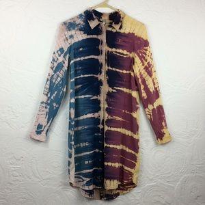 Mona B tie dye button down dress- Sz S